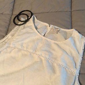 J.Crew sleeveless top with dot detail